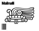 Desenho de Os dias astecas: grama Malinalli para colorear