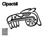 Desenho de Os dias astecas: jacaré Cipactli para colorear