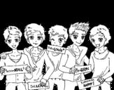 Desenho de Os meninos do One Direction para colorear
