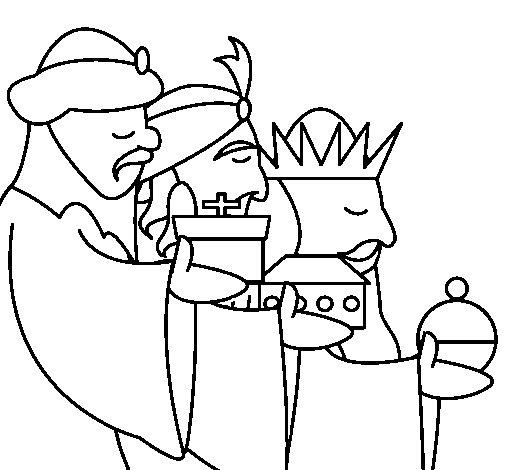 Desenho de Os Reis Magos 3 para Colorir