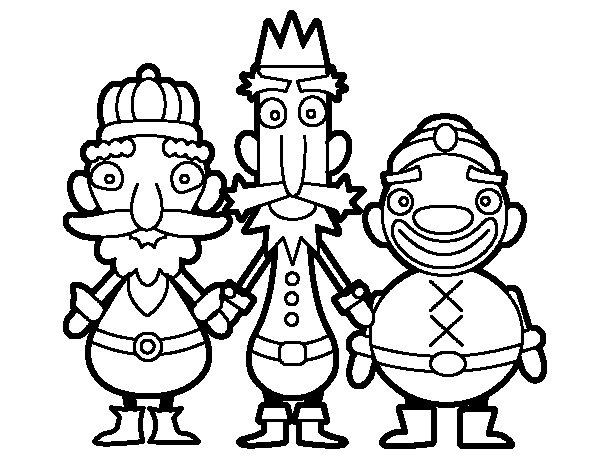 Desenho de Os Três Reis Magos para Colorir