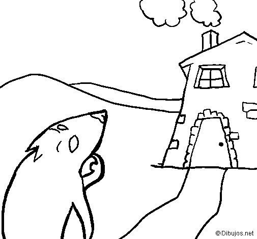 Desenho de Os três porquinhos 14 para Colorir