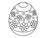 Desenho de Ovo de páscoa da primavera para colorear