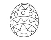 Desenho de Ovo de Páscoa infantil para colorear