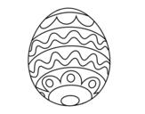 Desenho de Ovo de páscoa para crianças para colorear