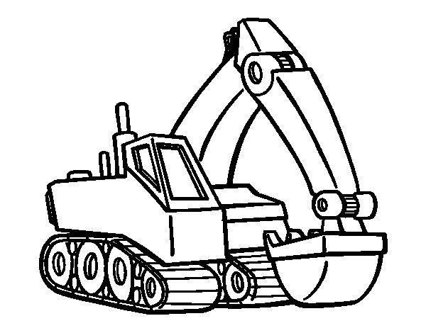 Desenho de Pá mecânica para Colorir