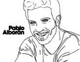 Desenho de Pablo Alboran  primeiro plano para colorear