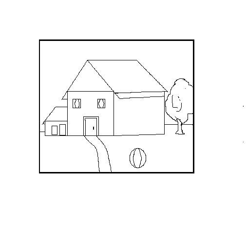 Desenho de Paisagem para Colorir