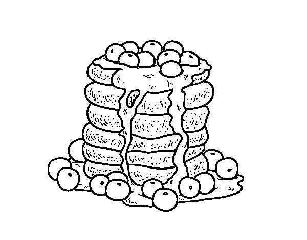 Desenho de Pancakes para Colorir