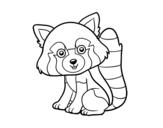 Desenho de Panda vermelho para colorear