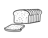 Desenho de Pão de forma para colorear