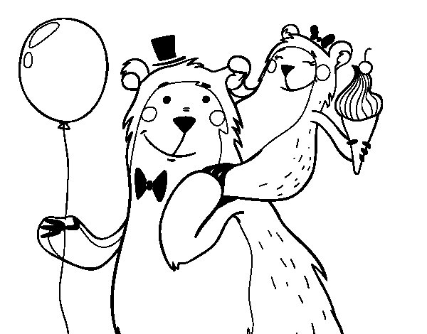 Desenho de Papá urso para Colorir