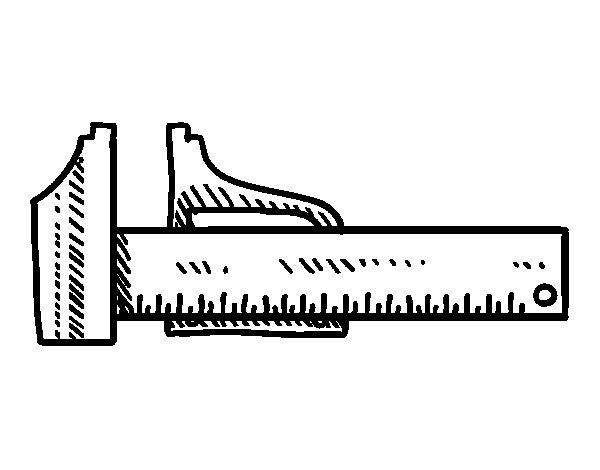 Desenho de Paquímetro para Colorir