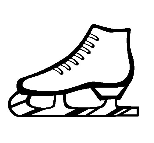 Desenho de Patim de gelo para Colorir