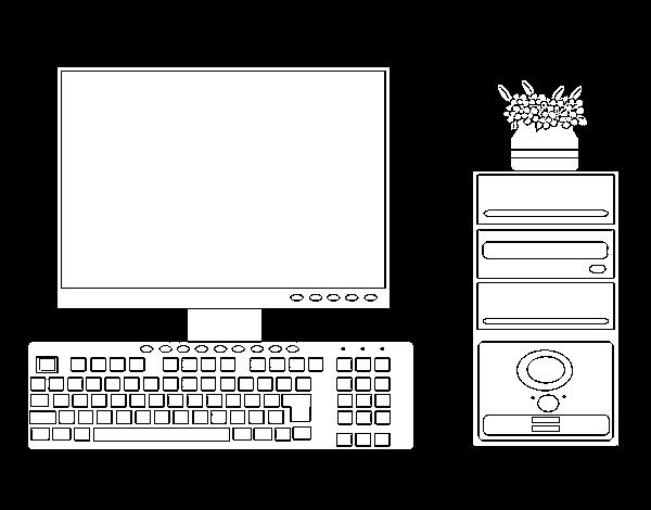 Desenho de PC para Colorir