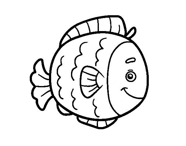 Desenho de Peixe infantil para Colorir