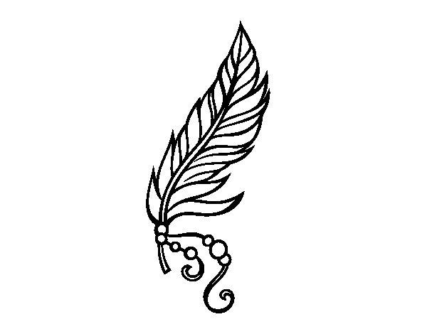 Desenho de Pena apache para Colorir