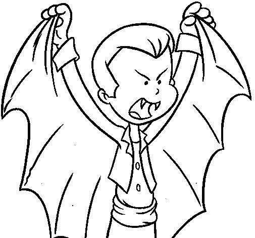Desenho de Pequeno Drácula para Colorir