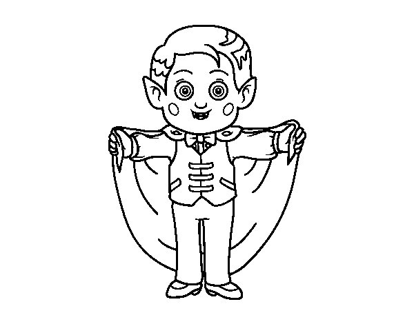 Desenho de Pequeno vampiro para Colorir