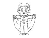 Desenho de Pequeno vampiro para colorear