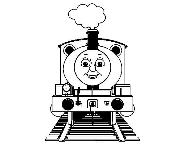 Desenho de Percy a locomotiva para Colorir