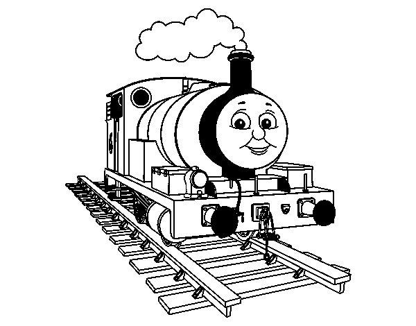 Desenho de Percy a locomotiva pequena para Colorir