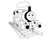 Dibujo de Percy a locomotiva pequena