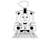 Desenho de Percy a locomotiva para colorear