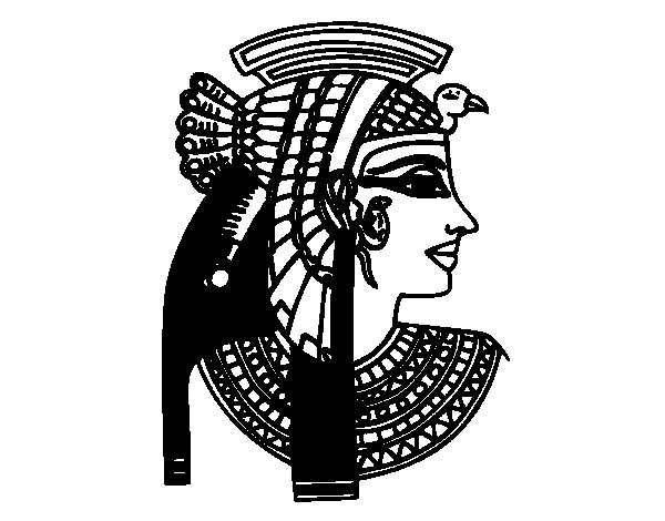 Desenho de Perfil Cleopatra para Colorir