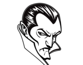 Desenho de Perfil de Drácula para colorear