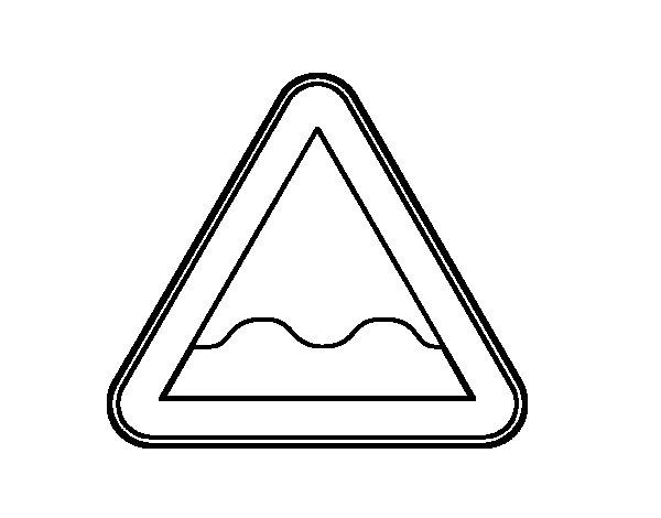 Desenho de Perfil irregular para Colorir