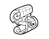 Desenho de Pergaminho pirata para colorear