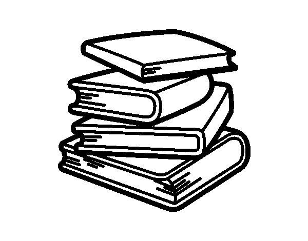 Desenho de Pilha de livros para Colorir