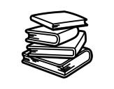 Dibujo de Pilha de livros