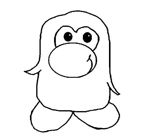 Desenho de Pinguim 2 para Colorir