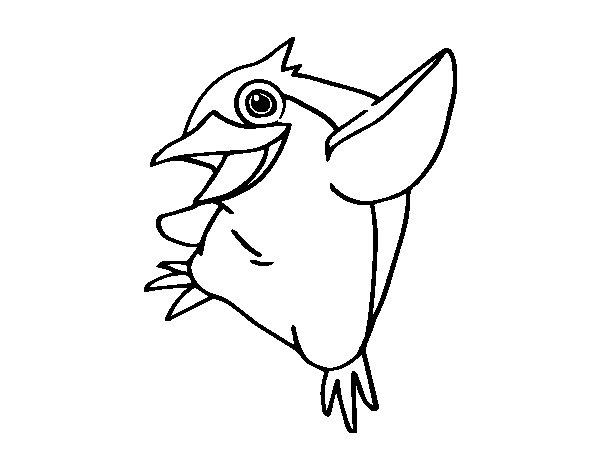 Desenho de Pinguim-azul para Colorir