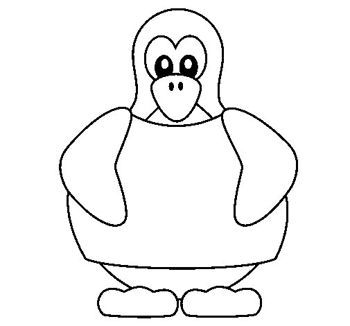 Desenho de Pinguim para Colorir