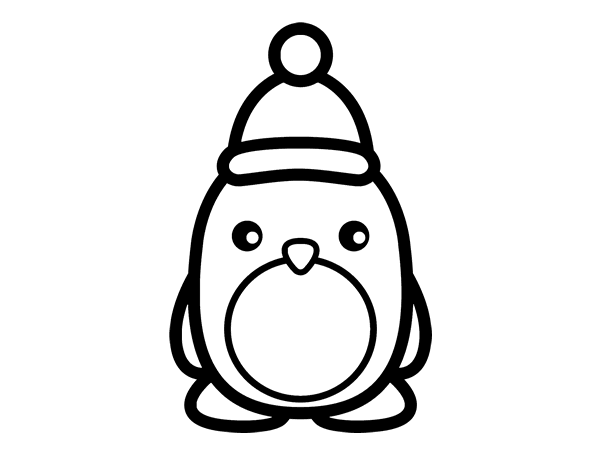 Cute christmas penguin coloring pages