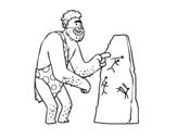 Dibujo de Pinturas rupestres homem pré-histórico