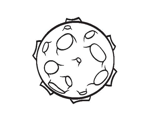 Desenho de Planeta com crateras para Colorir