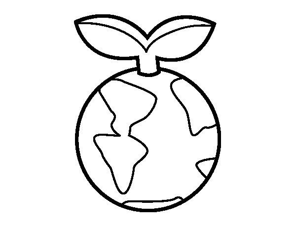Desenho de Planeta limpo para Colorir