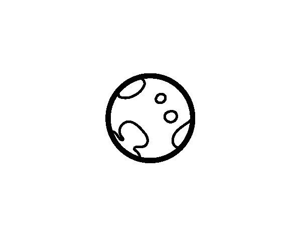 Desenho de Planeta Plutão para Colorir