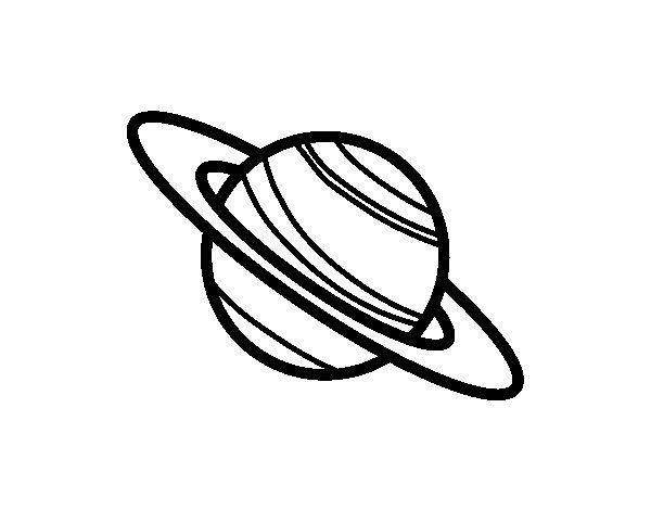 Desenho de Planeta Saturno para Colorir
