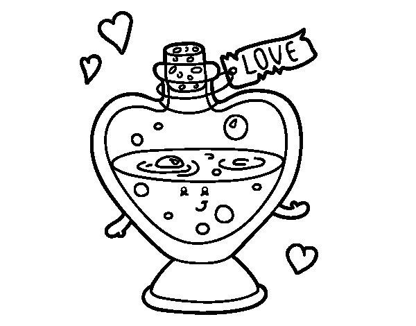 Desenho de Pocão de amor para Colorir