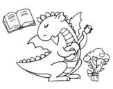 Desenho de Poeta dragão para colorear