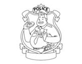 Dibujo de Polícia com filhós