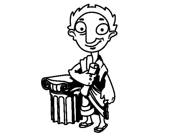 Desenho de Político grego para Colorir