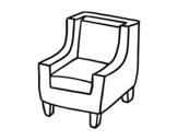 Desenho de Poltrona confortável para colorear