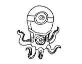 Desenho de Polvo Minion para colorear