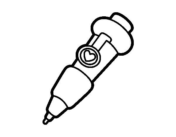 Desenho de Ponta fina para Colorir
